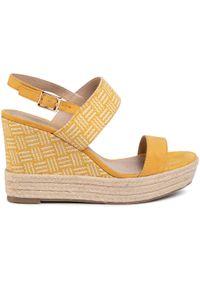 Jenny Fairy - Espadryle JENNY FAIRY - LS4963-12A Yellow. Okazja: na co dzień. Kolor: żółty. Materiał: materiał. Sezon: lato. Obcas: na obcasie. Styl: casual. Wysokość obcasa: średni
