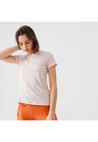 KALENJI - Koszulka do biegania damska Kalenji Run Soft. Kolor: różowy. Materiał: materiał, poliester. Sport: bieganie