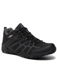 Czarne buty trekkingowe Elbrus z cholewką, trekkingowe
