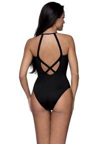 Czarny strój kąpielowy Lorin z odpinanymi ramiączkami