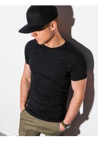Ombre Clothing - T-shirt męski bawełniany basic S1370 - czarny - XXL. Kolor: czarny. Materiał: bawełna. Styl: klasyczny