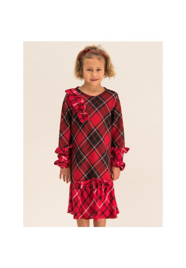 Czerwona sukienka Primigi casualowa, prosta, na co dzień