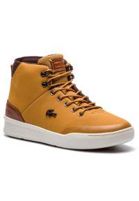 Żółte sneakersy Lacoste