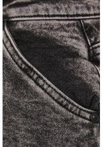 Noisy may - Noisy May - Spódnica jeansowa. Okazja: na co dzień. Kolor: szary. Materiał: jeans. Styl: casual
