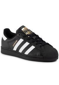 Czarne półbuty Adidas na co dzień, klasyczne