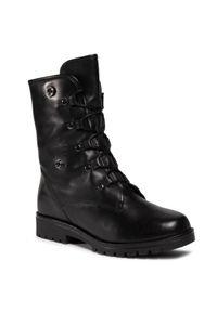 Czarne buty trekkingowe Caprice