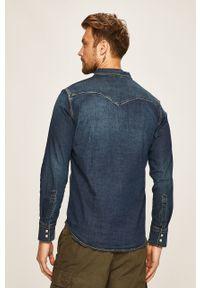 Niebieska koszula Levi's® na spotkanie biznesowe, z klasycznym kołnierzykiem, casualowa, w kolorowe wzory