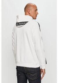 Biała bluza nierozpinana Kappa z aplikacjami, z kapturem, na co dzień