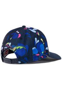 Niebieska czapka z daszkiem Helly Hansen z nadrukiem