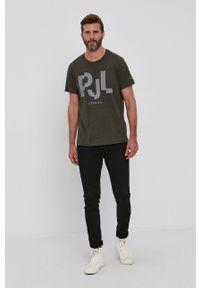 Pepe Jeans - T-shirt Rubens. Kolor: zielony. Wzór: nadruk