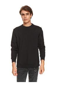 TOP SECRET - Bluza nierozpinana z suwakami. Kolor: czarny. Materiał: dzianina. Długość rękawa: długi rękaw. Długość: długie. Sezon: jesień. Styl: klasyczny