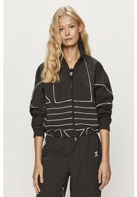 Czarna bluza rozpinana adidas Originals bez kaptura, z nadrukiem