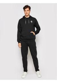 Karl Lagerfeld - KARL LAGERFELD Bluza 705027 511900 Czarny Regular Fit. Typ kołnierza: dekolt w karo. Kolor: czarny
