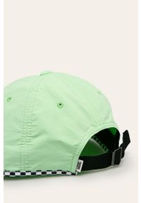Miętowa czapka z daszkiem Vans z aplikacjami
