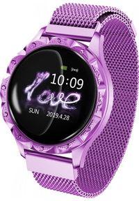 Fioletowy zegarek Roneberg smartwatch