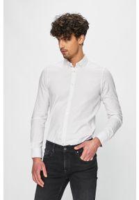 Biała koszula Tom Tailor Denim casualowa, długa, na co dzień, button down
