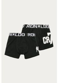 Czarne majtki Cristiano Ronaldo CR7 z nadrukiem