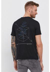 Armani Exchange - T-shirt bawełniany. Okazja: na co dzień. Kolor: czarny. Materiał: bawełna. Wzór: nadruk. Styl: casual