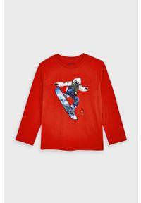 Czerwona koszulka z długim rękawem Mayoral na co dzień, casualowa