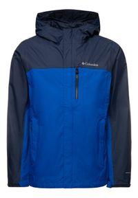 Niebieska kurtka do biegania columbia