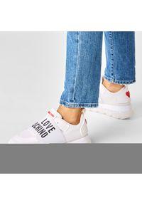 Białe buty sportowe Love Moschino