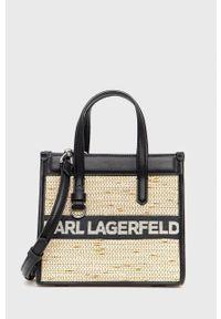 Karl Lagerfeld - Torebka. Kolor: czarny. Rodzaj torebki: na ramię
