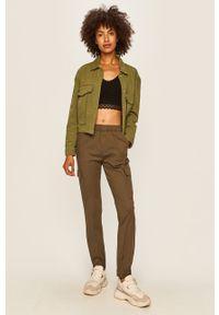 Zielone spodnie materiałowe TALLY WEIJL na co dzień, casualowe