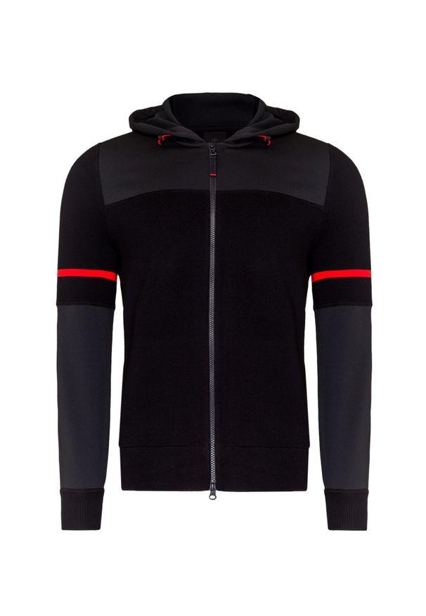Czarny sweter Bogner na co dzień, z kapturem, w kolorowe wzory