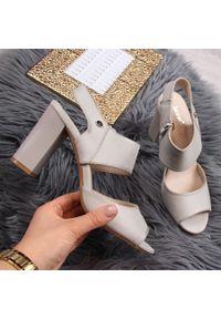 Szare sandały Jezzi