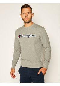 Champion Bluza Satin Script Logo 214188 Szary Comfort Fit. Kolor: szary