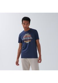 House - Koszulka z nadrukiem i napisem Original - Granatowy. Kolor: niebieski. Wzór: napisy, nadruk