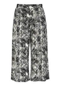 Cellbes Wzorzyste spodnie typu culotte z dżerseju Czarny we wzory female czarny/ze wzorem 34/36. Okazja: na co dzień. Kolor: czarny. Materiał: jersey. Styl: elegancki, casual