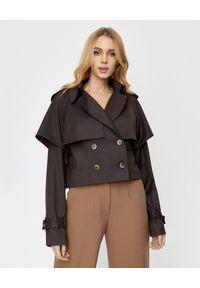 ICON - Dwurzędowa kurtka z wełny Enola. Kolor: brązowy. Materiał: wełna. Sezon: jesień