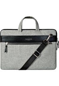 Szara torba na laptopa Cartinoe elegancka