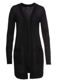 Czarny sweter bonprix długi, w prążki