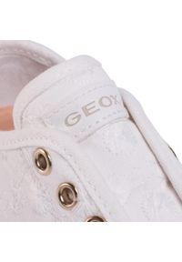 Białe półbuty Geox z cholewką, na spacer
