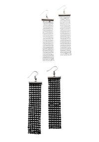 Komplet kolczyków (4 części) bonprix srebrny kolor - srebrny kolor oksydowany