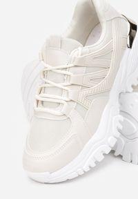 Born2be - Beżowe Sneakersy Appope. Wysokość cholewki: przed kostkę. Kolor: beżowy. Materiał: materiał. Szerokość cholewki: normalna. Wzór: aplikacja. Obcas: na płaskiej podeszwie