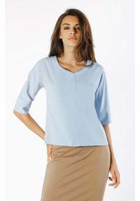 Niebieska bluzka Nommo z dekoltem w serek