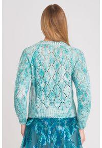 Sweter Elisabetta Franchi krótki, z długim rękawem, na spacer