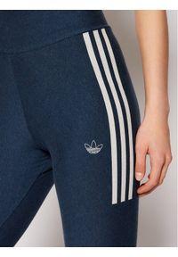 Adidas - adidas Legginsy Fakten Tights GN4400 Granatowy Slim Fit. Kolor: niebieski #4