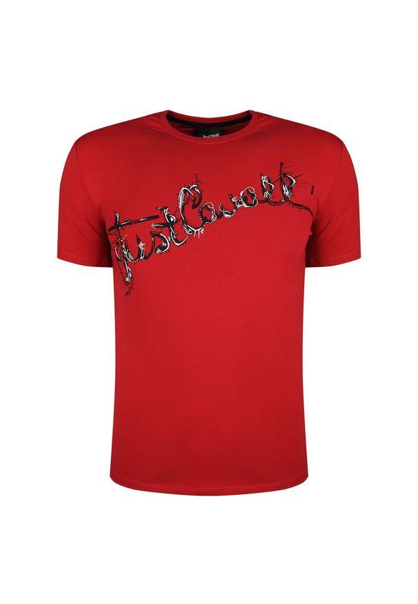 T-shirt Roberto Cavalli z okrągłym kołnierzem, casualowy, na co dzień