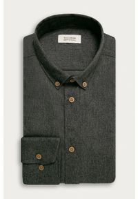 Tailored & Originals - Koszula. Okazja: na co dzień. Typ kołnierza: button down. Kolor: szary. Materiał: tkanina. Styl: casual