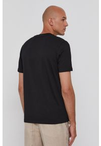 Hugo - T-shirt. Okazja: na co dzień. Kolor: czarny. Materiał: bawełna, dzianina. Wzór: nadruk. Styl: casual