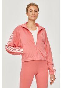 adidas Originals - Bluza. Okazja: na co dzień. Kolor: fioletowy. Materiał: tkanina, poliester. Wzór: gładki. Styl: casual