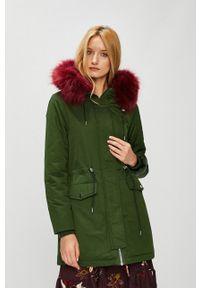 medicine - Medicine - Płaszcz Hand Made. Okazja: na co dzień. Typ kołnierza: kaptur. Kolor: zielony. Styl: casual