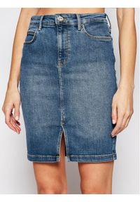 Niebieska spódnica jeansowa Lee