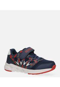 Casu - granatowe buty sportowe na rzep casu 20p8/m. Zapięcie: rzepy. Kolor: niebieski