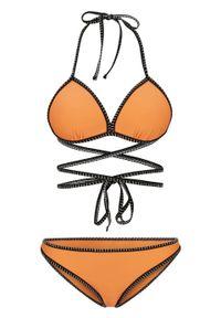 Bikini push up (2 części) bonprix morelowy. Kolor: pomarańczowy
