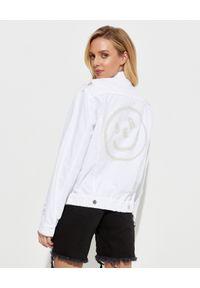SER.O.YA - Kurtka oversize Romeo. Kolor: biały. Materiał: jeans, materiał. Sezon: wiosna. Styl: elegancki